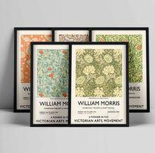 Affiche sur toile de William Morris, affiche d'exposition du musée Victoria et William, Art abstrait, Nouveau, décor mural