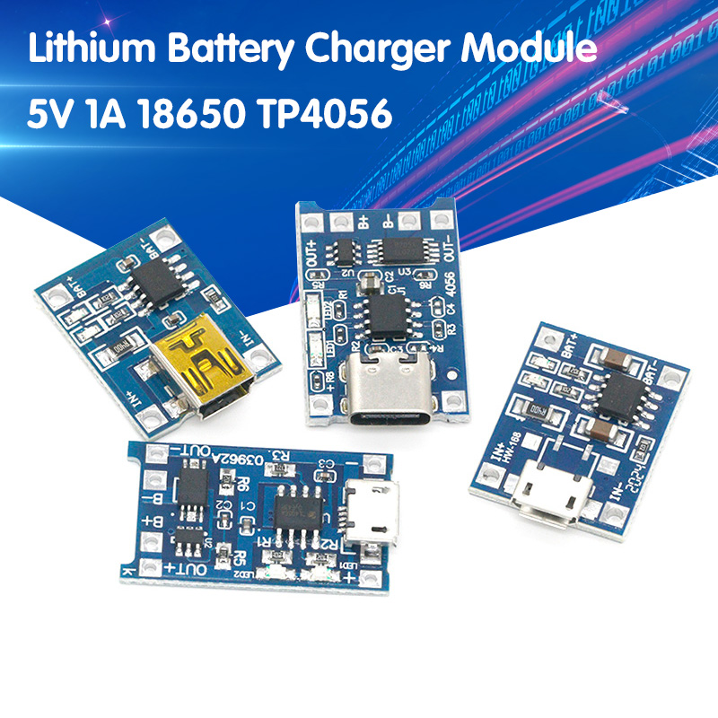 5 шт. Micro/Type-c USB 5 В 1A 18650 TP4056 модуль зарядного устройства литиевой батареи зарядная плата с защитой двойной функции 1A li-ion
