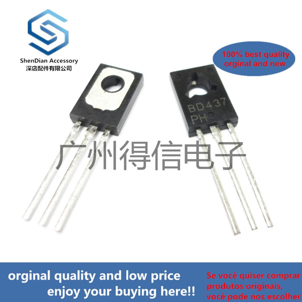 10pcs 100% Orginal New  BD437 437 TO-126 COMPLEMENTARY SILICON POWER TRANSISTORS  Real Photo