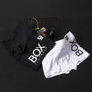 Image 3 - 4 개/몫 Boxershorts 남자 복서 남성 속옷 남자 팬티 코튼 소프트 짧은 복서 메쉬 망 Hombre Cueca 플러스 크기 OR212