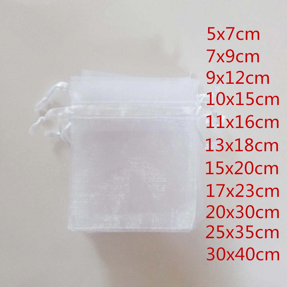 100pcs Jewellery Bag Drawstring Organza Bags Jewelry Packaging Display Organza Jewelry Bags Pouch Packaging For Jewelry Pouches