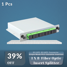 Волоконно оптический вставной сплиттер 1x8 ftth с разъемом sc/upc