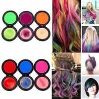 Dropshipping 6 teile/satz Temporäre Haar Dye Waschbar Pro Salon Ein-zeit Haar Farbstoff Farbe Malen Einweg Haar Regenbogen Haar kreide