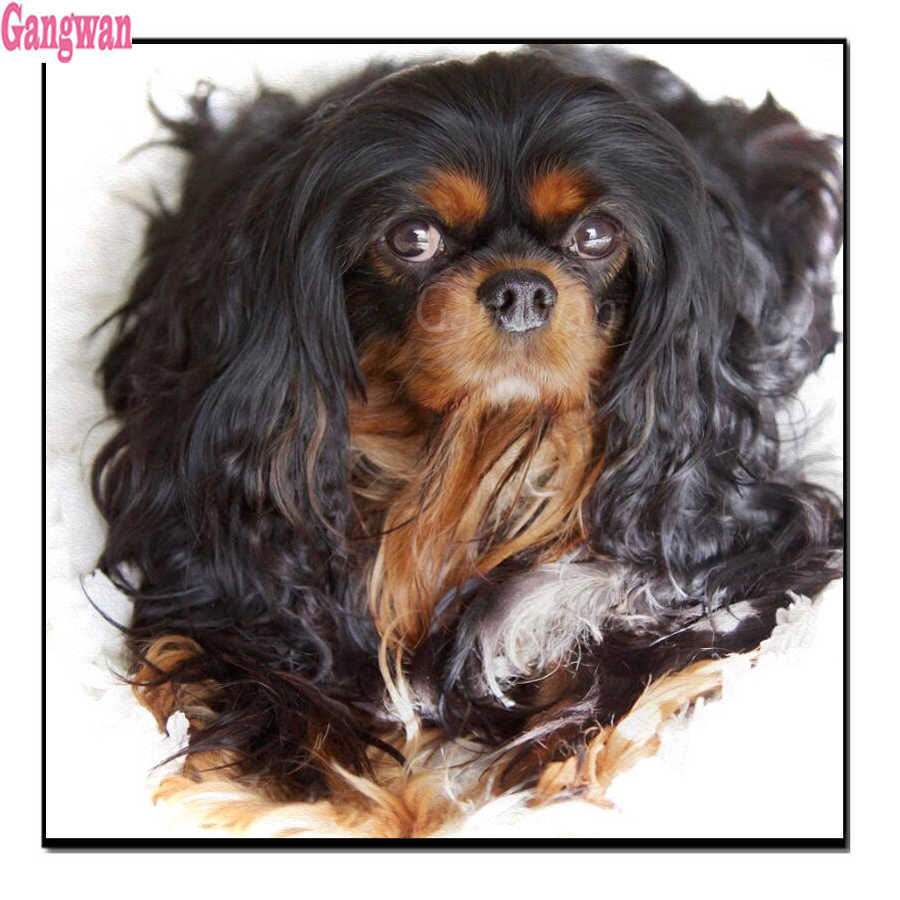 Stitch Cross Lukisan Berlian Cavalier King Cobra 5D DIY Diamond Bordir Mosaik Berlian Imitasi Menjahit Dekorasi Rumah