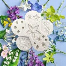 Силиконовая форма для помады различные цветы формы для торта Формы для выпечки DIY шоколадная форма Полимерная глина форма для мастики