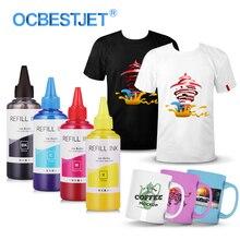 Tinta de sublimación Universal para impresoras Epson, 400ML, tinta de transferencia térmica, tinta de sublimación utilizada para tazas/camisetas
