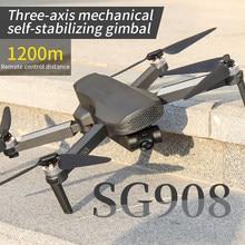 Dron SG908 con cámara HD, 5G, 4K, 3 ejes, cardán, Wifi, GPS, FPV, Profesional, cuadricóptero plegable, distancia de 1,2 km