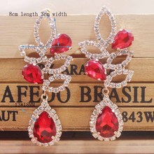 2019 New design red wedding /party earring silver shiny women rose gold champagne Zerong new rhinestone
