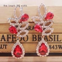 2019 New design red wedding /party earring silver shiny women earring rose gold champagne earring Zerong new rhinestone earring цена