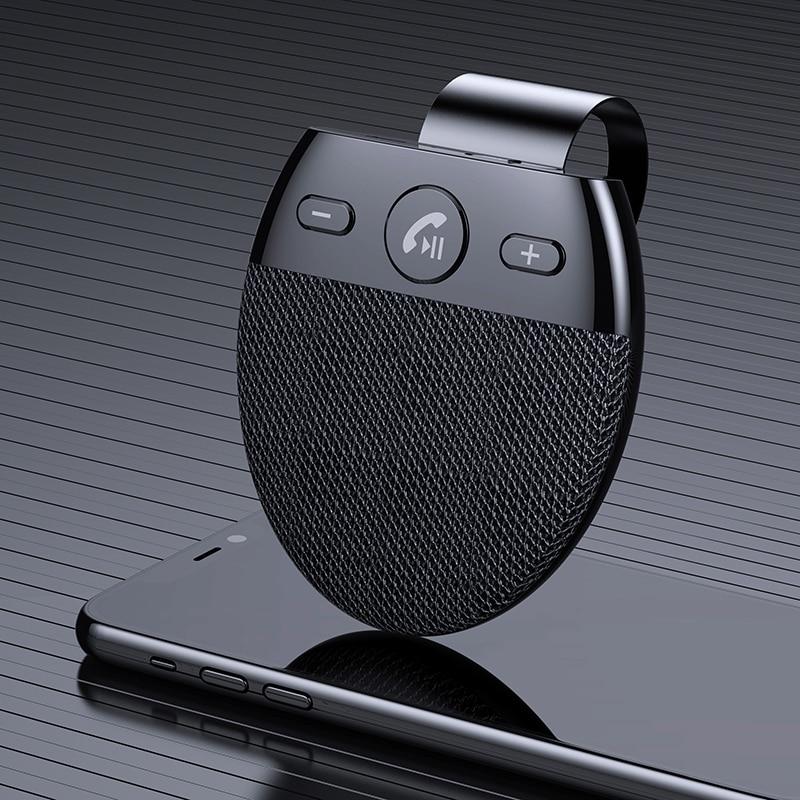 Беспроводной автомобильный Bluetooth V5.0 динамик Громкая связь автомобильный комплект громкой связи Bluetooth динамик телефон солнцезащитный козыр...