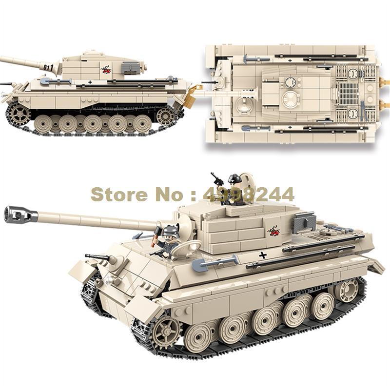Tiger Tank Building blocks kit /& Army Figures Building Toy Brick CUSTOM WWII