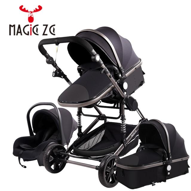 Carrinho de criança 3 em 1 portátil viagem carrinho de bebê dobrável carrinhos quadro alumínio alta paisagem carro para recém-nascidos babyboomer poussette 2