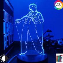3d lâmpada harry estilos presente da lâmpada para fãs decoração do quarto luz led sensor de toque cor mudando lâmpada mesa trabalho