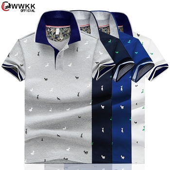 2020 Men Summer Deer Print Polo Shirt Short Sleeve Slim Fit Polos Fashion Streetwear Tops Men Shirts Sports Casual Golf Shirts 1