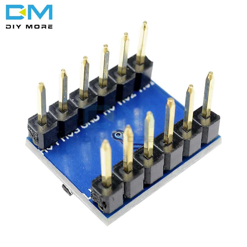 Módulo bidirecional da placa do conversor do nível de 5 v 3.3 v dc ogic para arduino com os pinos placa eletrônica iic i2c do pwb de diy