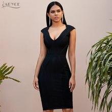 Adyce 2021 Новое летнее черное облегающее Клубное платье сексуальное
