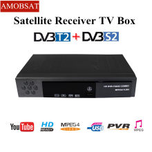 AMOBSAT Digital Terrestrial Satellite TV Receiver FTA Combo DVB-T2 DVB-S2 Suppor HD IPTV YouTuBE tv Box H.264 Support CCCAM(China)