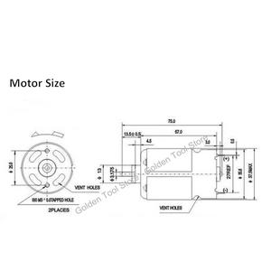 Image 3 - DC Motor 12 teeth replace for BOSCH cordless Drill Screwdriver GSR 7.2V 9.6V 12V 14.4V 16.8V 18V 21V accessories Spare Parts