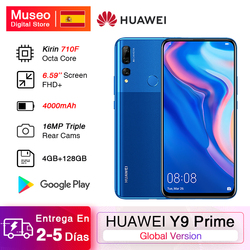 Huawei-teléfono inteligente Y9 Prime 2019, teléfono móvil versión Global, cámaras traseras triples ia de 16.0mp, 4GB RAM, 128GB rom, 16.0mp cámara frontal de Pop-Up, pantalla de 6,59 pulgadas