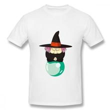 Men T-Shirts Summer Men's Basic Short Sleeve T-Shirt Casual Cotton Dragon Ball Uranai Baba printing t shirt men tee shirt 4XL