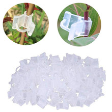 200 sztuk plastikowa roślina klipsy do szczepienia wielokrotnego użytku roślina ogrodowa klips do mocowania Mini narzędzie ogrodnicze s sadzonka rośnie klipy narzędzie ogrodnicze tanie tanio Z tworzywa sztucznego