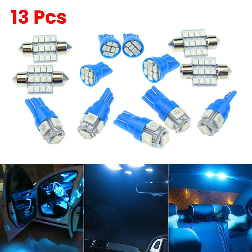 13x carro auto interior luzes led para cúpula lâmpada da placa de licença 12v kit acessórios transporte da gota