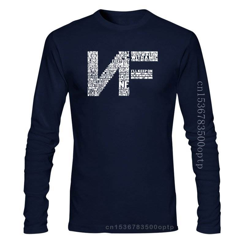 NF lyrics Logo Cotton T-shirt O-Neck  1