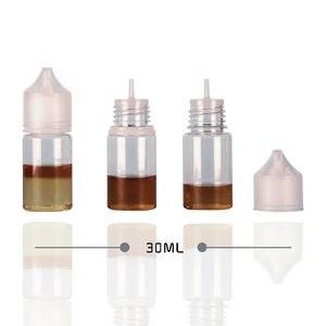Image 5 - Yeni 5 adet 30ml/60ml/100ml/120ml PET plastik boş damlalıklı E sıvı göz temiz su şişeleri uzun İpucu Cap suyu yağı kalem tipi elektronik sigara şişesi