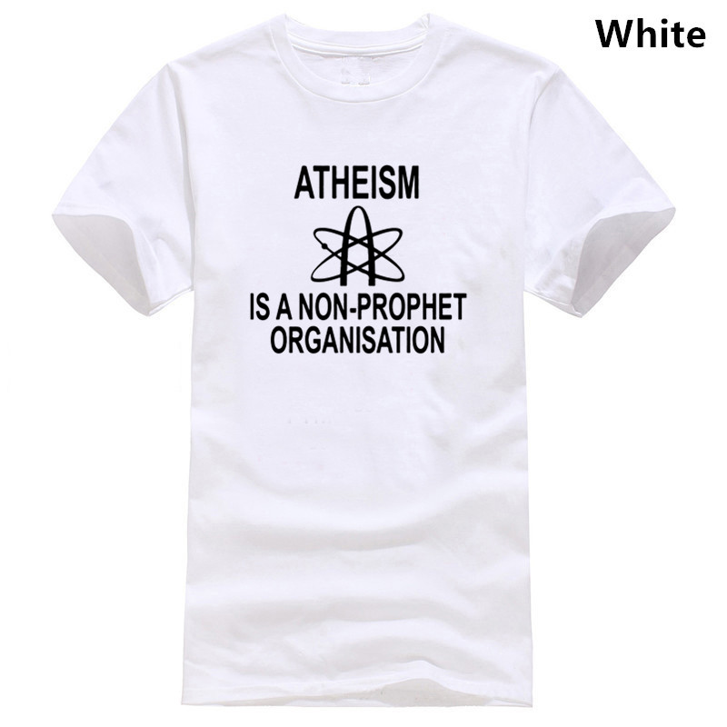 ATHEISM IS NON PROPHET FUNNY MENS <font><b>T</b></font> <font><b>SHIRT</b></font> JOKE <font><b>ATHEIST</b></font> ANTI RELIGION GOD FAITH image