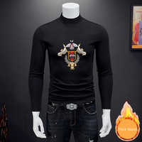 Royal T Hemd Männer Tishert Homem Luxus Stickerei Langarm T Shirt Dicke Warme Fremden Dinge Club Outfits Puls Größe 7xl