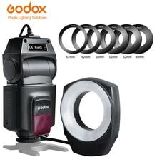 Godox ML 150 anillo Macro Flash Speedlite número de guía 10 con 6 anillos adaptadores de lente para cámaras Canon Nikon Pentax Olympus Sony