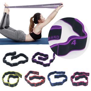 Yoga Pull Strap Belt Resistance Bands Latex Elastic Stretching Fitness Gymnastics Training Bands Pilates Home Gym Equipment New