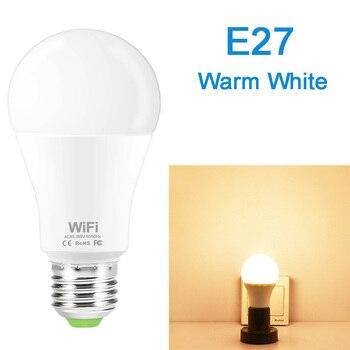Dimmable 15W B22 E27 WiFi Smart Light Bulb LED Lamp App Operate Alexa Google Assistant Control Wake up Smart Lamp Night Light 9