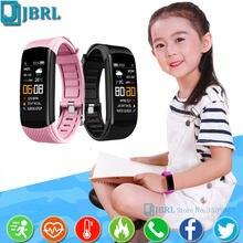 Crianças de topo banda inteligente crianças pulseira inteligente para meninos meninas smartband criança pulseira esporte rastreador de fitness smart-band