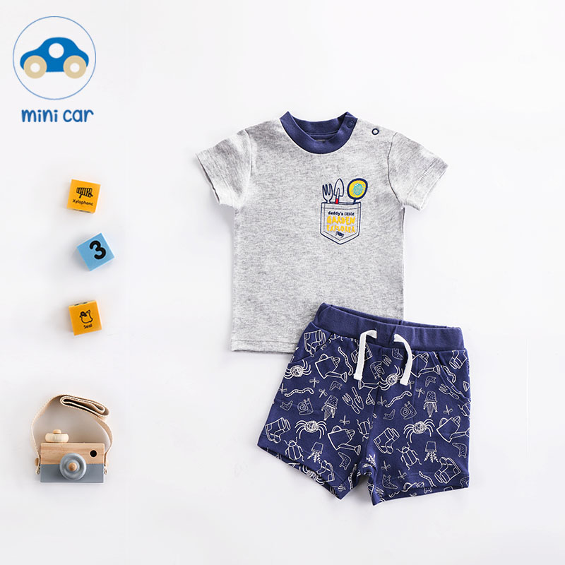 Brand Cotton Baby Sets Leisure Fashion Summer Clothes Boy T-shirt + Shorts Sets Toddler Clothing Baby Boy Clothes Newborn 5