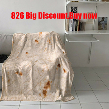 Tortilla Soft Fleece Throw Blanket Printing De Harina Burrito Round And Square Shape Funny Gag Xmas Gift #