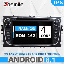 Android 8.1 2 din AutoRadio Car DVD Player For Ford Focus Mondeo 4 FordC-Max S-Max Kuga Galaxy Transit Connect Navigation