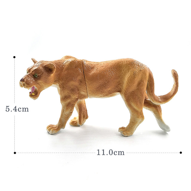Hot Simulation Lion Hyena Forest Animal model figurine home decor decoration accessories modern plastic Educational toy 3