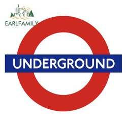 EARLFAMILY 13cm x 10.6cm for London Metro London Underground Personality Creative Car Stickers Vinyl Bumper Decoration Decal