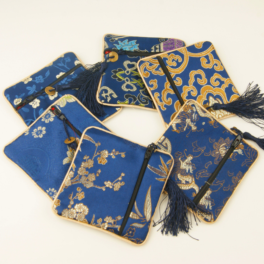 Export Send Wallet Gift Chinese-style Handicraft Brocade Silk Coin Purse Real Silk Zero Foreigner Nation Characteristics Gift