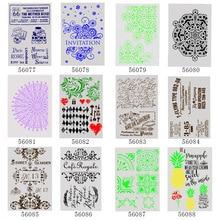 1Pcs A4 DIY Stencils Wall Painting Scrapbook Coloring Embossing Album Decorative Paper Card Template 29*21cm 12 models
