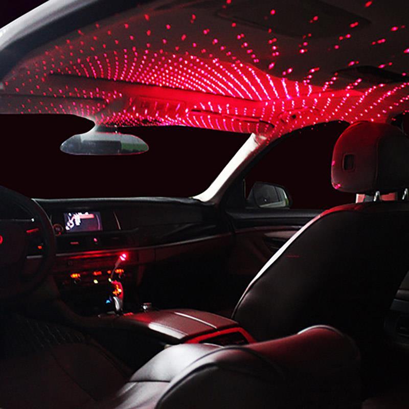 Mini LED Car Roof Star Night Lights Projector Light Interior Ambient Atmosphere Universl Galaxy Lamp Decoration Light USB Plug