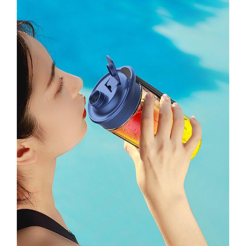 Deerma персональная портативная соковыжималка, блендер, фрукты 21000 DC, электрический миксер без бисфенола А, бутылка, USB перезаряжаемая соковыжималка 2