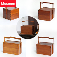 Bamboo Pail Chinese Style Tea Cabinet Accept Can Carry The Gift Box Monolayer Nothing Cover Send Gifts Hotel Picnic Basket You