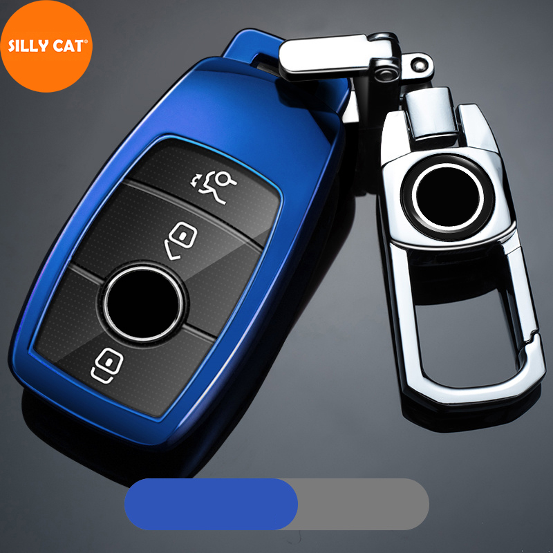 TPU Car Key Case Cover Keychain Remote Fob Suitable For Mercedes Benz A B G S E C Class W205 W213 C217 W177 W247 C257 W167 W463