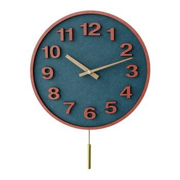 Modern Pendulum Clocks Wall Wood Home Decor Living Room Silent Swing Clock Watch Mechanism  Secret Stash Zegar Household SC097