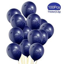 100 Pcs 12inch Navy Blue balloons Party Latex Balloons Great for Birthday Wedding Baby Shower Decoration Dark Global