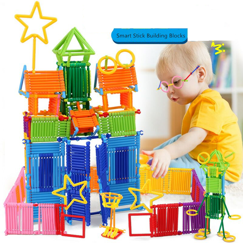 Assembled Building Blocks DIY Smart Stick Blocks Imagination Creativity Educational Learning Toys Children Gift Puzzle Stick