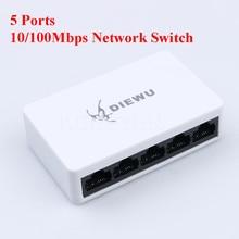 Switcher-Hub Network-Switch Power-Supply Fast-Ethernet 5-Ports Desktop 100mbps LAN RJ45