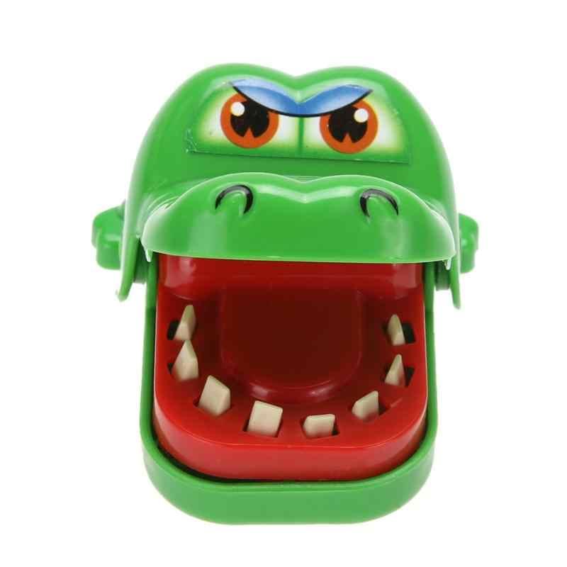 خدعة مضحكة الكرتون التمساح اللعب الفم طبيب الأسنان لدغة إصبع لعبة الكمامات الجدة الأسرة لعبة لعبة للأطفال الأطفال